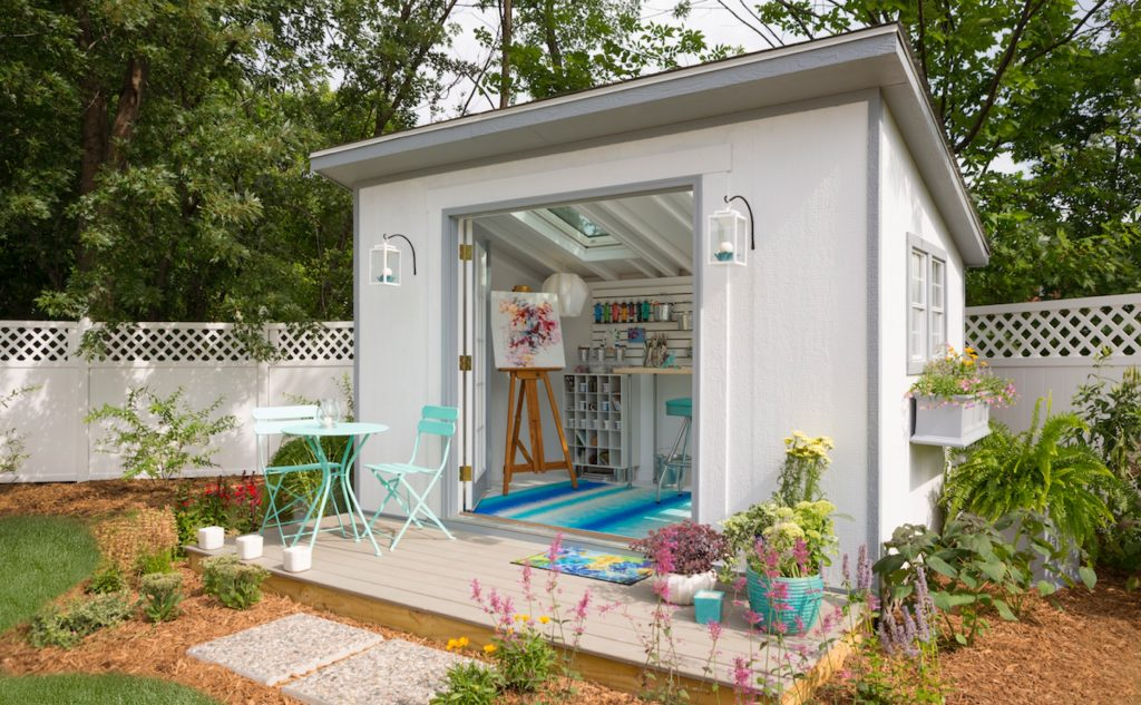 artist shed, courtesy of Lowe's